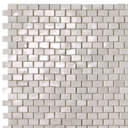 Brickell White Brick Mosaic Gloss | Ceramic mosaics | Fap Ceramiche