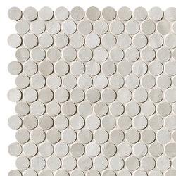 Brickell White Round Mosaico Matt | Ceramic mosaics | Fap Ceramiche