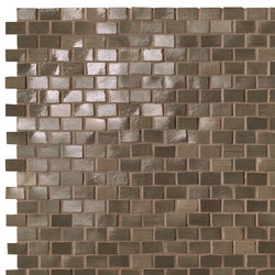 Brickell Brown Brick Mosaic Gloss | Mosaici ceramica | Fap Ceramiche