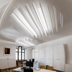 da baffle connected straight | Acoustic ceiling systems | SPÄH designed acoustic
