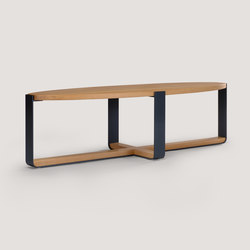 piedmont elliptical low table | Coffee tables | Skram