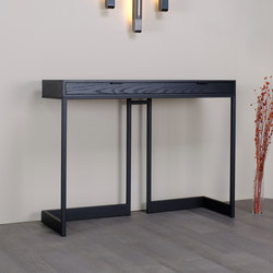 wishbone 2-drawer high table | Consolle | Skram