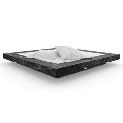 BED II Numbered and signed edition limited to 6 pieces - Marble black | Beds | RECHTECK FELIX SCHWAKE