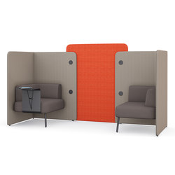m.zone twin seat | Sound absorbing architectural systems | Wiesner-Hager