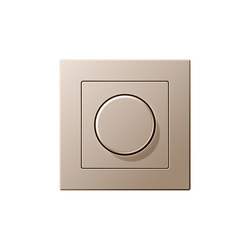 A Creation rotary dimmer champagne | Rotary switches | JUNG
