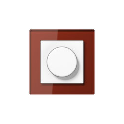 A Creation rotary dimmer red glass | Rotary switches | JUNG