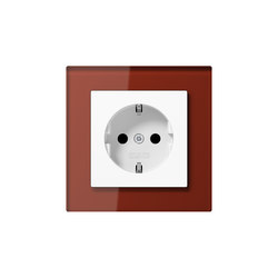 A Creation socket red glass | Schuko sockets | JUNG