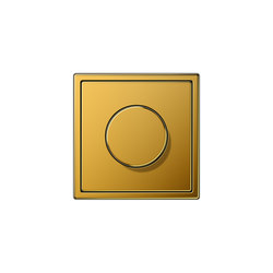 LS 990 | rotary dimmer gold 24 carat | Rotary switches | JUNG