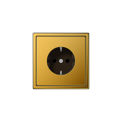 LS 990 | socket 24 carat gold | Schuko sockets | JUNG