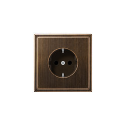 LS 990 | socket antique brass | Schuko sockets | JUNG