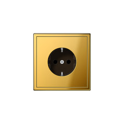 LS 990 | socket gold | Schuko sockets | JUNG