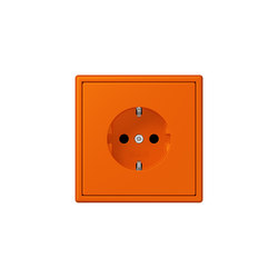LS 990 in Les Couleurs® Le Corbusier | SCHUKO-Steckdose 32080 orange | Schuko-Stecker | JUNG