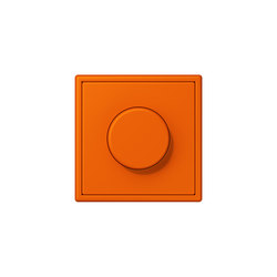 LS 990 in Les Couleurs® Le Corbusier rotary dimmer  32080 orange | Rotary switches | JUNG