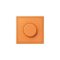 LS 990 in Les Couleurs® Le Corbusier rotary dimmer 32081 orange clair | Rotary switches | JUNG