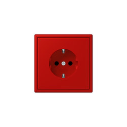 LS 990 in Les Couleurs® Le Corbusier socket 32090 rouge vermillon 31 | Enchufes Schuko | JUNG