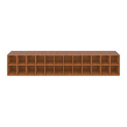 SHELF III-II Numbered and signed edition limited to 6 pieces - Precious wood mahogany | Shelving | RECHTECK FELIX SCHWAKE