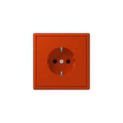 LS 990 in Les Couleurs® Le Corbusier socket 4320A rouge vermillon 59 | Enchufes Schuko | JUNG