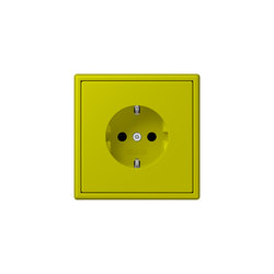 LS 990 in Les Couleurs® Le Corbusier socket 4320F vert olive vif | Prese Schuko | JUNG