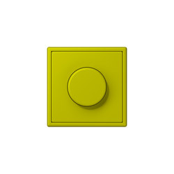 LS 990 in Les Couleurs® Le Corbusier | rotary dimmer 4320F vert olive vif | Rotary switches | JUNG