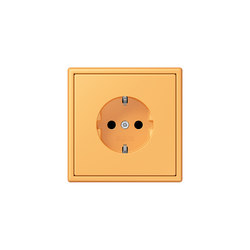 LS 990 in Les Couleurs® Le Corbusier | socket 4320L ocre jaune clair | Schuko sockets | JUNG