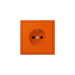 LS 990 in Les Couleurs® Le Corbusier | socket 4320S orange vif | Schuko sockets | JUNG