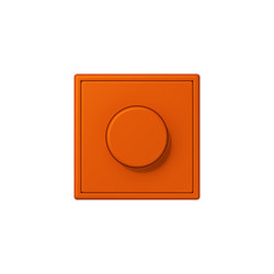 LS 990 in Les Couleurs® Le Corbusier rotary dimmer 4320S orange vif | Interruttori manopola | JUNG