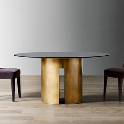 Gong Dining table | Tables de repas | Meridiani