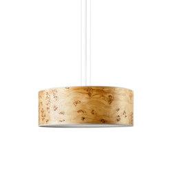 Discus Pendant | Poplar burl | Suspended lights | LeuchtNatur