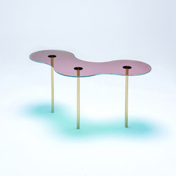 Camo B - Glass - Pink/Green | Coffee tables | NEO/CRAFT