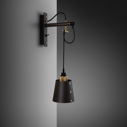 Hooked wall | small | Graphite | Brass | Wall lights | Buster + Punch