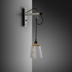 Hooked wall | small | Stone | Brass | Wall lights | Buster + Punch