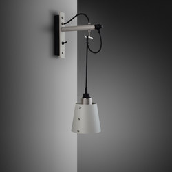 Hooked wall | small | Stone | Steel | Wall lights | Buster + Punch