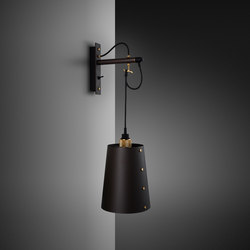Hooked wall | Large | Graphite | Brass | Wall lights | Buster + Punch