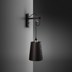 Hooked wall | Large | Graphite | Steel | Wall lights | Buster + Punch