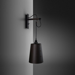 Hooked wall   Large   Graphite   Smoked Bronze   Wall lights   Buster + Punch