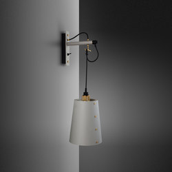 Hooked wall | Large | Stone | Brass | Wall lights | Buster + Punch