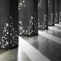 The Laser Cut Collection - Square columns | Paneles metálicos | Moz Designs