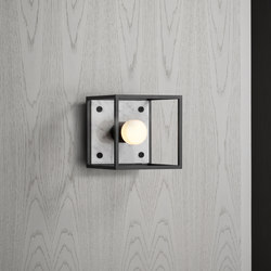 Caged Wall 1.0 Small | Polished White Marble | Wall lights | Buster + Punch