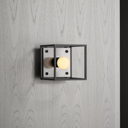 Caged Wall 1.0 Small / Brushed Steel | Wall lights | Buster + Punch
