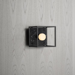 Caged Wall 1.0 Small | Satin Black Marble | Lampade parete | Buster + Punch