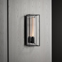Caged Wall 1.0 Large | Brushed Steel | Buster Bulb Tube | Wall lights | Buster + Punch
