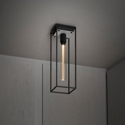 Caged Ceiling 1.0 Large | Polished White Marble | Buster Bulb Tube | Deckenleuchten | Buster + Punch