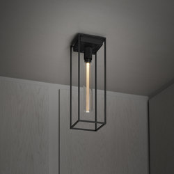 Caged Ceiling 1.0 Large | Satin Black Marble | Buster Bulb Tube | Ceiling lights | Buster + Punch