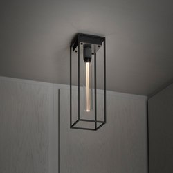 Caged Ceiling 1.0 Large | Brushed Steel | Buster Bulb Tube | Ceiling lights | Buster + Punch