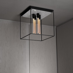Caged Ceiling 4.0 | Polished White Marble | Buster Bulb Tube | Lámparas de techo | Buster + Punch