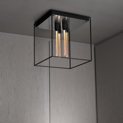 Caged Ceiling 4.0 | Brushed Steel | Buster Bulb Tube | Ceiling lights | Buster + Punch