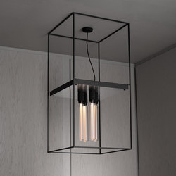 Caged Ceiling 4.0 | Brushed Steel | Buster Bulb Tube | Deckenleuchten | Buster + Punch