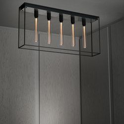 Caged Ceiling 5.0 | Brushed Steel | Buster Bulb Tube | Lampade plafoniere | Buster + Punch