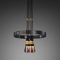 Hero Light | Graphite | Brass | Suspended lights | Buster + Punch