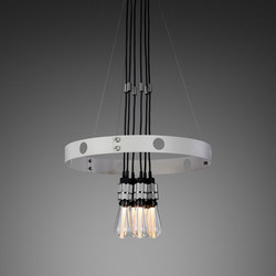 Hero Light | Stone | Steel | Suspended lights | Buster + Punch